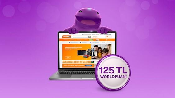 Teknosa.com'da 125 TL Worldpuan! Üstelik peşin fiyatına 12 aya varan taksit!